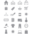 Gray shopping icons set vector image vector image
