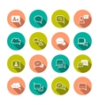 Chat Bubbles Icons vector image