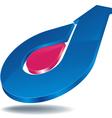 logo arrow blue vector image