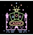 Poker club or casino background vector image