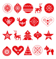 Scandinavian Christmas decorations vector image