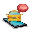 taxi mobile smartphone app icon vector image
