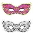 Bohemian Festive Masks set Decorative vector image