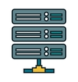 data center disk isolated icon vector image