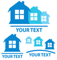 Real estate signs vector image