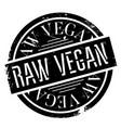 raw vegan rubber stamp vector image