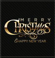Merry christmas black background vector image vector image