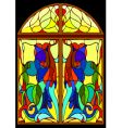 window-stained-glass window from color glass vector image