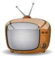 Cute wooden TV vector image