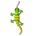 green gecko cartoon for you design vector image vector image