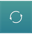 Arrow circle icon - cycle loop roundabout vector image