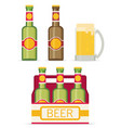 beer set isolated on white background flat style vector image
