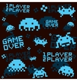 Black space invaders pattern vector image