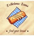 Bread On A Napkin 17 vector image