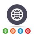 globe sign icon world symbol vector image