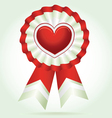 Heart award vector image
