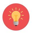 Lightbulb flat icon vector image