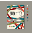 minimalist brochure book flyer design template vector image