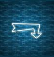 neon arrow sign vector image