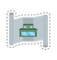 real estate architecture paper cut line vector image