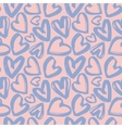 Seamless pattern of lilac hearts vector image