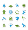 space and universe icons vector image