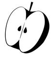 Apple Cut Icon vector image