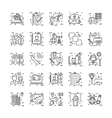 Line Icons With Detail 16 vector image