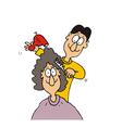 hairdressing salon vector image