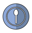 spoon cutlery isolated icon vector image