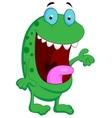Cute green monster cartoon vector image