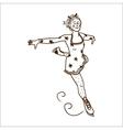 Girl figure skating vector image