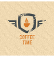 Coffee time label vector image vector image