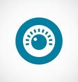 sound control icon bold blue circle border vector image