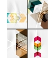 Set of angle and straight lines design abstract vector image vector image