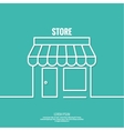 Facade of shops supermarkets marketplace vector image