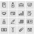 line business icon set vector image