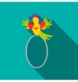 Circus parrot icon flat style vector image