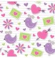 cute romantic pattern vector image