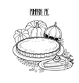 Graphic pumpkin pie vector image
