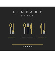 Icon knife fork and spoon vector image