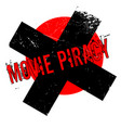 movie piracy rubber stamp vector image