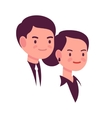 Portrait of a man and woman vector image
