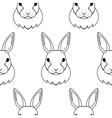 Rabbit seamless pattern vector image