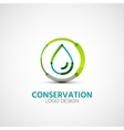 Water conservation company logo business concept vector image