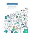 Water Tourism - line design brochure poster vector image