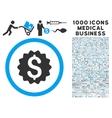 Financial Reward Seal Icon with 1000 Medical vector image
