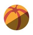 balloon beach isolated icon vector image
