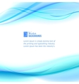 Blue abstract design vector image