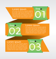 Abstract banner in three step EPS10 vector image vector image
